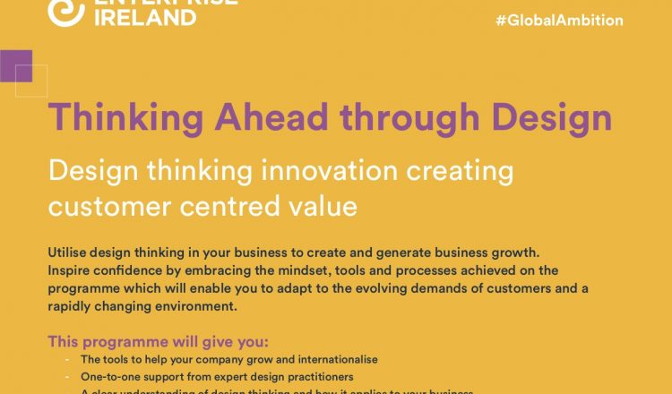 Thinking Ahead Through Design – Design thinking innovation creating customer centred value