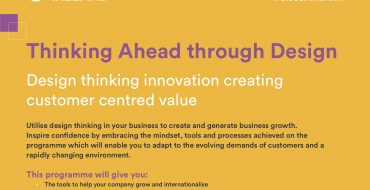 Thinking Ahead Through Design – Design thinking innovation creating customer centred value